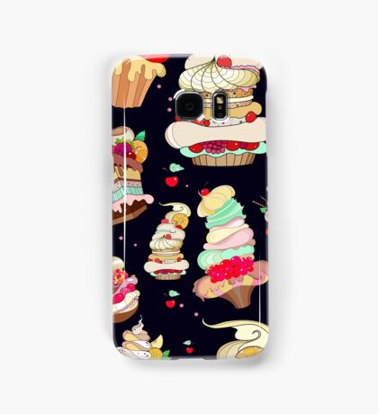 Pattern with the fantastic cakes Samsung Galaxy Case/Skin