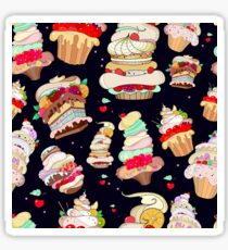 Pattern with the fantastic cakes Sticker