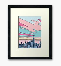 City sunset by Elebea Framed Print