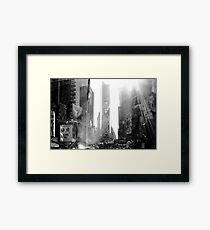 Broadway New York Framed Print