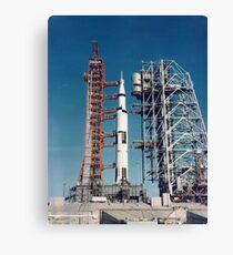 The Apollo 8 space vehicle on the launch pad at Kennedy Space Center. Canvas Print