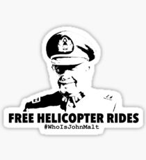 Free Helicopter Rides Sticker