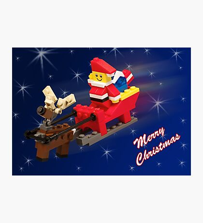 Santa is on His Way! Photographic Print