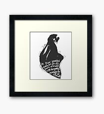 The tale of who must no be named - alt Framed Print