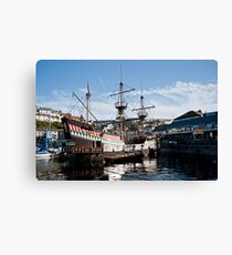 The Golden Hind, Brixham Canvas Print