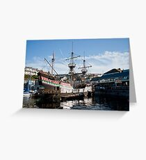The Golden Hind, Brixham Greeting Card