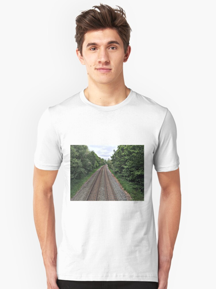 Alternate view of Train in the distance Slim Fit T-Shirt