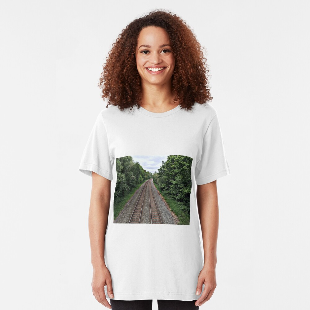 Train in the distance Slim Fit T-Shirt
