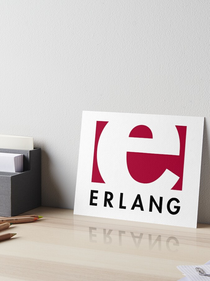 Erlang programming language logo   Art Board Print