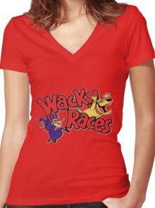 Races Women's Fitted V-Neck T-Shirt