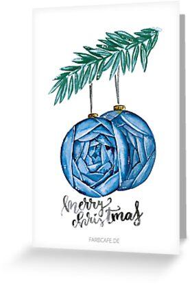 Merry Christmas Aquarell von farbcafe