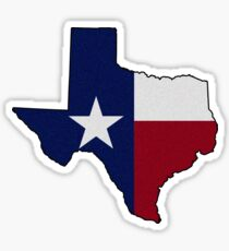 (Film Grain style, adds character to the base product) Texas Flag on the Greatest State in America: Texas Sticker