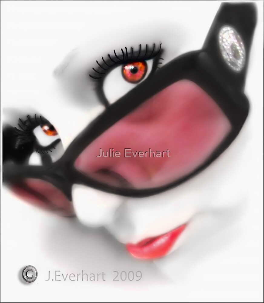 Over The Top ( self portrait ) by Julie Everhart
