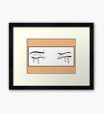 Pink Tear Framed Print
