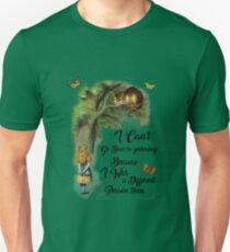 Alice in Wonderland Quote,Cheshire Cat,Vintage Dictionary Art Unisex T-Shirt