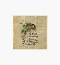 Alice in Wonderland Quote,Cheshire Cat,Vintage Dictionary Art Art Board
