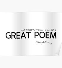 great poem - walt whitman Poster