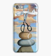 ROCK, PAPER, SCISSORS - still life painting iPhone Case/Skin
