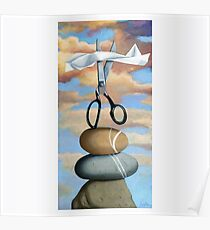 ROCK, PAPER, SCISSORS - still life painting Poster