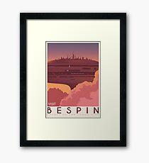 Bespin poster. Starwars retro travel. Cloud city. Illustration. Jedi return. Boba fett art. Movie poster. Vacation poster. Inspired vintage Framed Print