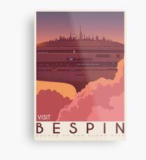 Bespin poster. Starwars retro travel. Cloud city. Illustration. Jedi return. Boba fett art. Movie poster. Vacation poster. Inspired vintage Metal Print