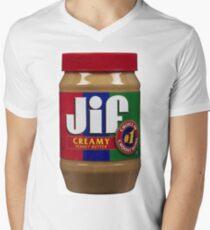 Jif Erdnussbutter (extra cremig) T-Shirt mit V-Ausschnitt