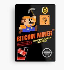 Bitcoin Geek Nintendo Gaming Funny Mario Mashup  Metal Print