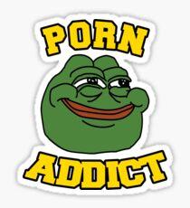 Porn Addict Pepe Frog Smiling  Sticker