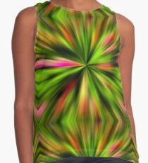 Vibrant Multi Colored Star Abstract Contrast Tank
