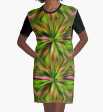 Vibrant Multi Colored Star Abstract Graphic T-Shirt Dress