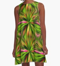 Vibrant Multi Colored Star Abstract A-Line Dress