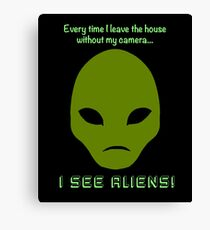 I See Aliens! Canvas Print