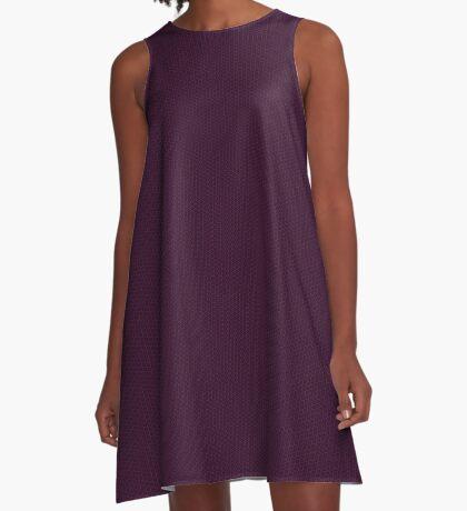 Deep Plum  Weave by Julie Everhart A-Line Dress