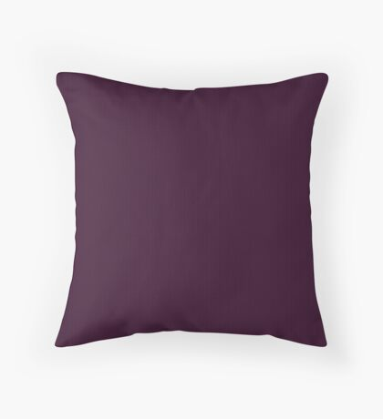 Deep Plum  Weave by Julie Everhart Throw Pillow