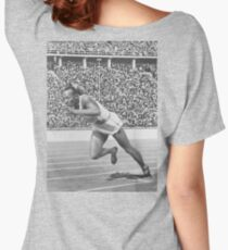 OWENS, African American, Heroes, Jesse Owens, Record breaking, 200 meter, Race, Olympic games, 1936, Berlin. Women's Relaxed Fit T-Shirt
