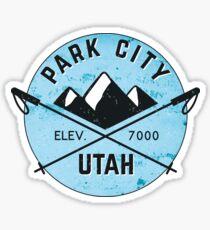 PARK CITY UTAH MOUNTAINS SKIING SKI SNOWBOARD CROSSED SKIS 3 Sticker