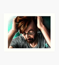 """People are Unknowable"" Alec Hardy Broadchurch David Tennant Digital Painting Art Print"