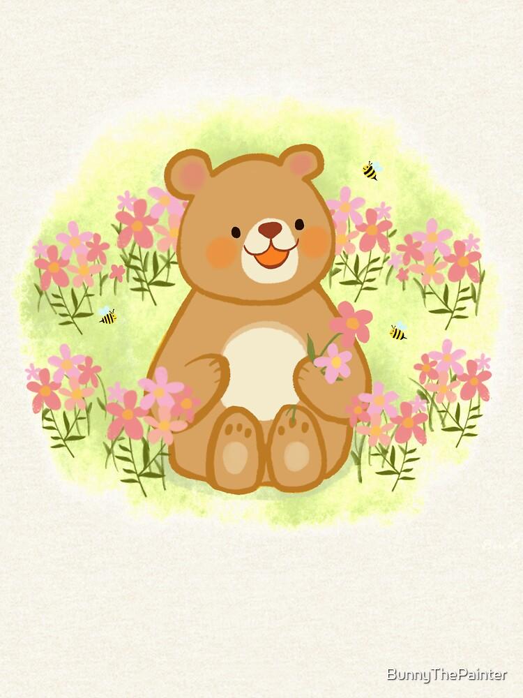 Bienenblüten und ein Bär von BunnyThePainter