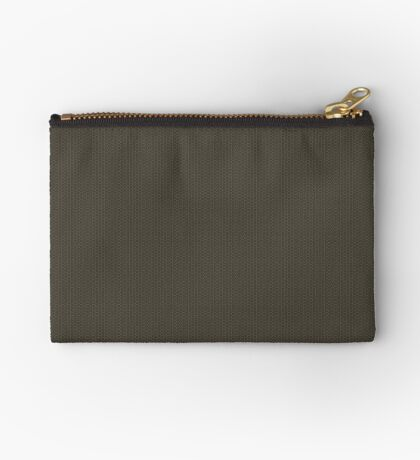 Gray-Taupe Weave Pattern by Julie Everhart Zipper Pouch