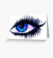 Digital watercolor female eye Greeting Card