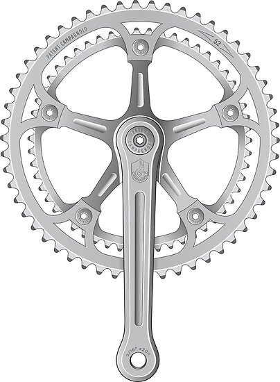 Campagnolo Super Record Strada Chainset, 1974 by BonkersStyle