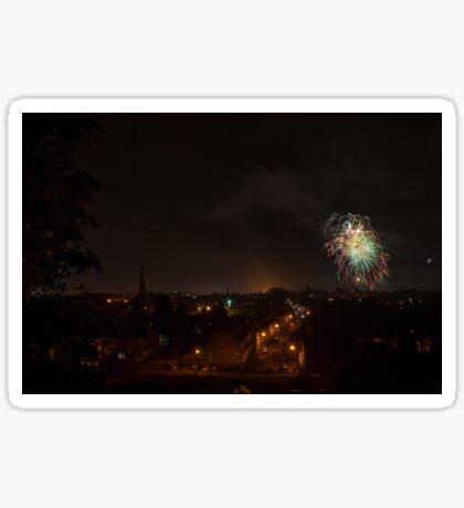 Fireworks over Worcester Sticker