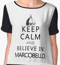 Keep Calm and Marcobello Women's Chiffon Top