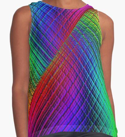 Textured Rainbow Sleeveless Top