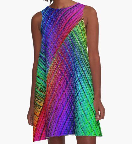 Textured Rainbow A-Line Dress