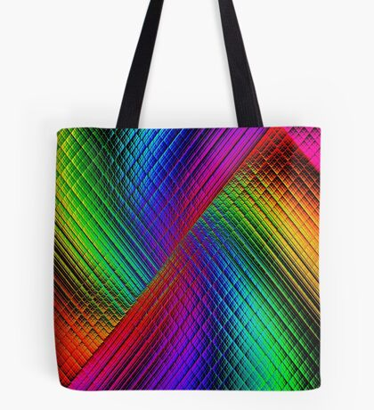 Textured Rainbow Tote Bag