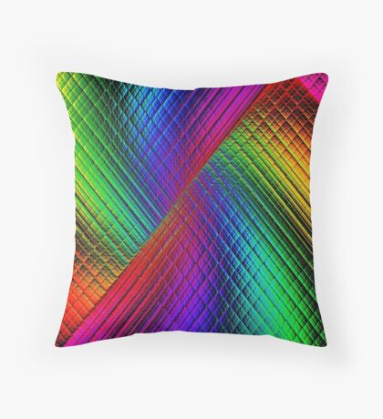 Textured Rainbow Throw Pillow