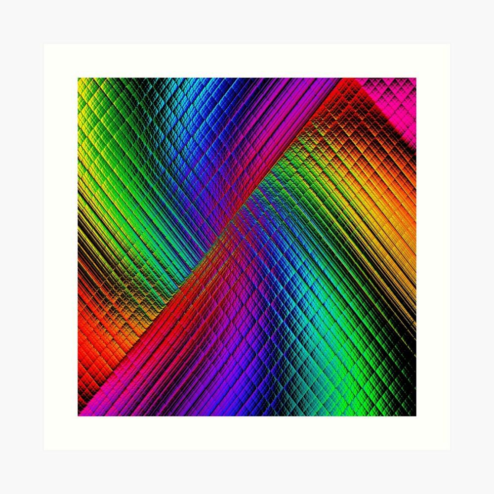 Textured Rainbow Art Print