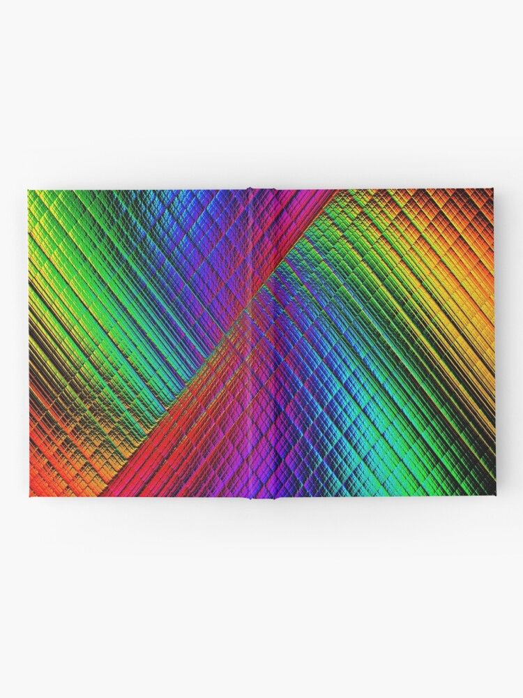 Alternate view of Textured Rainbow Hardcover Journal