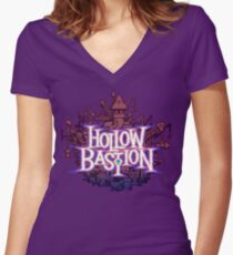 Hollow Bastion Women's Fitted V-Neck T-Shirt